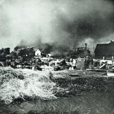 Město Mýto po požáru v roce 1908