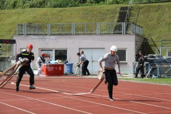 První polovinu krajského požárního sportu v Třinci ovládli Ostravané