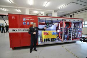Hasiči v Mladé Boleslavi převzali speciální hasicí kontejner