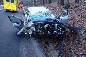 Nehoda zkomplikovala dopravu mezi obcemi Doubravy a Bohuslavice u Zlína.