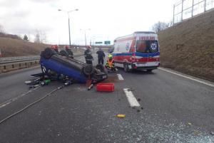 Hasiči z Českého Těšína vyprošťovali řidičku havarovaného auta v Polsku