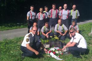 Hasiči uctili památku kolegů, kteří zemřeli při výkonu služby před 24 lety