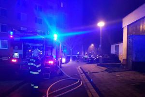 Hasiči našli při hašení bývalé kotelny v Kroměříži dvě mrtvé osoby