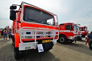 Expozici profesionálních hasičů na Dnech NATO si prohlédl i premiér Babiš