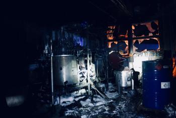 Požár technologie a cyklohexanu v Olomouci způsobil škodu za 5 milionů