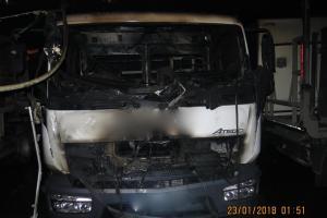 Požár náklaďáku v olomoucké parkovací hale způsobil milionové škody