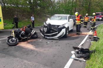 Tři nehody na účet motorkářů. O zranění nouze rozhodně nebyla