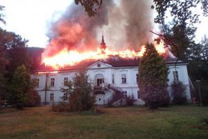 Vyšetřovatelé: Zámek v Horním Maršově byl zapálen úmyslně