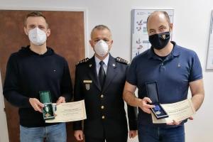 Ředitel a náměstek pražské záchranné služby převzali medaile HZS ČR