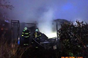 Požár zničil chatu ve Strání na Uherskohradišťsku