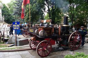Parní stříkačka je klenotem dobrovolných hasičů v Uherském Brodě