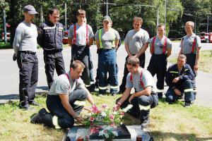 Nezapomněli. Hasiči uctili památku svých zemřelých kolegů ve výkonu služby