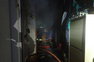 Požár bytu v obci Střížovice. Byl v něm mrtvý pes