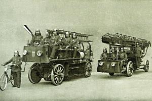 Automobilový hasičský vlak