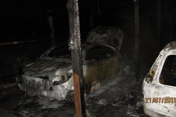 Noční požár garážového stání v Heřmanicích způsobil škodu a zabil štěně