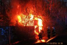 Opuštěný objekt požárem vyzkoušel akceschopnost olomouckých hasičů