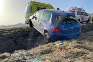 Dopravní nehoda tří osobních automobilů