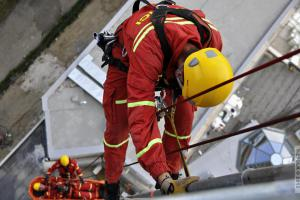 Moravskoslezští hasiči-lezci jeli cvičit do Slovinska i v mrazu