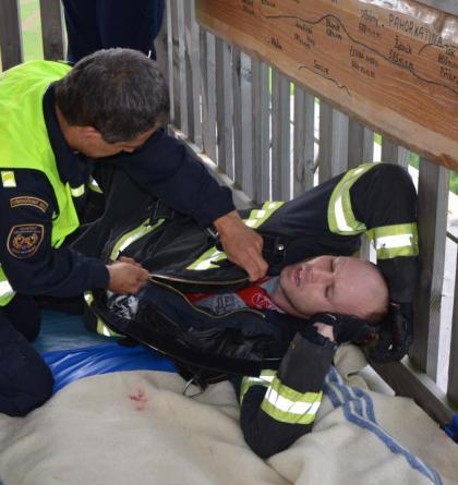 Rozhledna Bohdanka důkladně prověřila fyzickou zdatnost hasičů