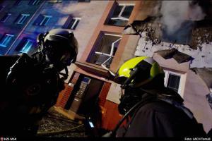 Výbuch s požárem v bytu v Ostravě-Hrabůvce