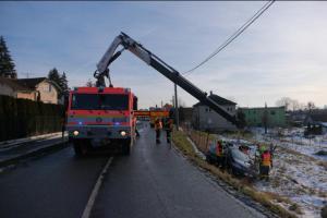 Moravskoslezští hasiči zasahovali kvůli počasí ve čtvrtek ráno u deseti nehod