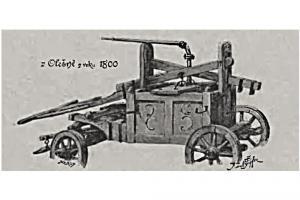 Stříkačka z Olešnice z roku 1800