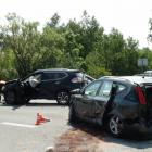 Vážná dopravní nehoda na okraji Hradce Králové. Pět zraněných