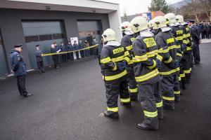Dobrovolní hasiči v Odrách se dočkali nové hasičské zbrojnice