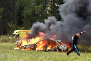 Pád dopravního letadla prověřil složky záchranného systému