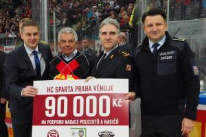 Úcta k profesi: Sparta vzdává hold hasičům i hasičským rodinám