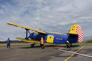 Hasiči absolvovali výcvik s letounem určeným pro letecké hašení