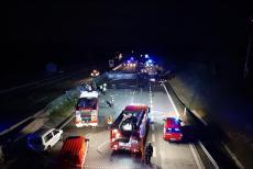 Nehoda u Brna zastavila provoz na dálnici D1. Vyhasl i jeden lidský život