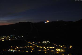 Požár lesního porostu v Krkonoších nedaleko Labské boudy komplikoval vítr