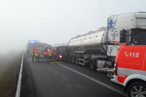 Hasiči zasahovali na 179. km dálnice D1 ve směru na Prahu