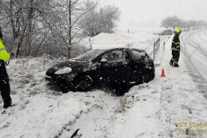 Na Plzeňsku zase trochu sněžilo a trochu havarovalo
