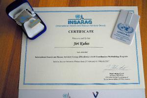 Pražský hasič absolvoval speciální kurz koordinace a řízení operací USAR