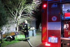 Noční požár v kotelně domu. V Hřivínově Újezdě se trochu nevyspali