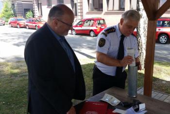 Do věžičky objektu jihočeských hasičů byla opět uložena schránka s dokumenty