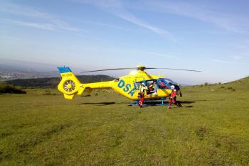 Hasiči na Rané pomáhali s transportem zraněného paraglidisty