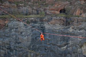 Kladenští lezci zkoušeli v Mexiku lanový traverz. Povedlo se