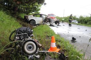 Tragická dopravní nehoda u Černožic si vyžádala tři oběti