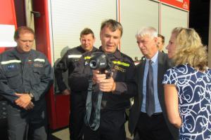 Soběslavští hasiči dostali novou termokameru. Je americké výroby