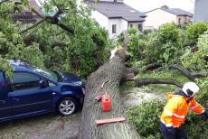 Jižní Čechy: Silné bouřky a vytrvalý déšť přinesl více práce pro hasiče