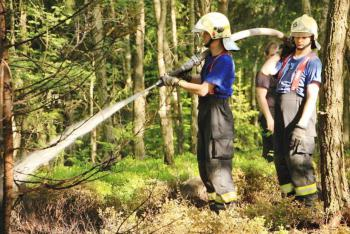 Požár lesa v lokalitě Děčín - Maxičky si vybral nepřístupný terén