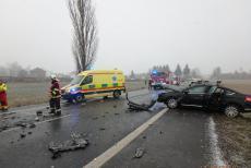 Dopravní nehoda třech vozidel u Borov na Plzeňsku. Zraněny i dvě děti