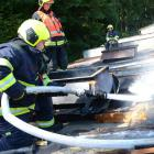 V Lokti hořela střecha dílny, jiskru zažehla nedbalost dělníků