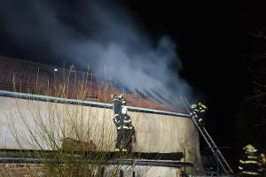 Požár rodinného domu v obci Kleněč, okres Litoměřice