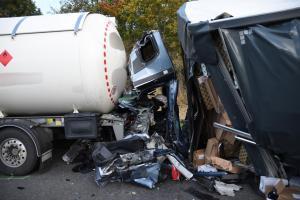Dálnici D1 u Tvarožné zablokovala na dlouhé hodiny vážná nehoda