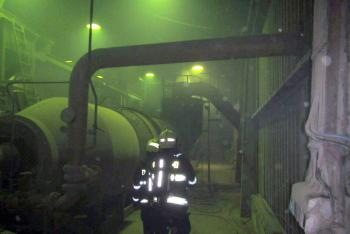 Požár v průmyslové budově v Kvítkovicích zaměstnal dvě jednotky hasičů