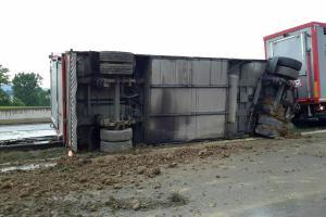 Na dálnici havaroval kamion s živým nákladem. Šest pašíků nepřežilo